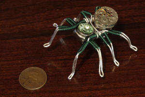 Steampunk Green Lapel Pin by CatherinetteRings