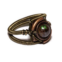 Steampunk Ring - Australian Boulder Matrix Opal by CatherinetteRings