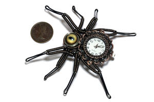Steampunk Spider Watch Lapel Pin