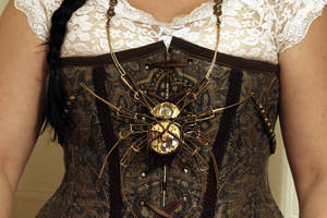Steampunk Spider Sculpture Necklace by CatherinetteRings