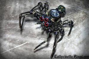 Steampunk Clockwork Spider Sculpture by CatherinetteRings