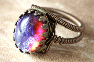 Steampunk Jewelry - Ring - Dragon's Breath by CatherinetteRings