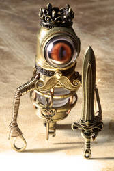 Steampunk King Minion robot by CatherinetteRings