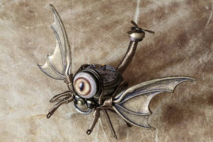 One eyed steampunk Dragon Drone by CatherinetteRings