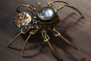 Steampunk Mechanical Clock Spider by CatherinetteRings