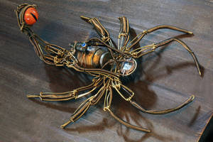 Steampunk Mechanical Insect by CatherinetteRings