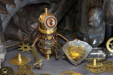 Steampunk Modron Knight by CatherinetteRings