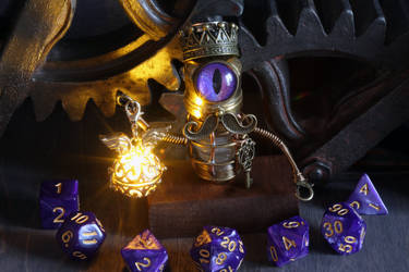 Mustached Robot Dice Guardian by CatherinetteRings