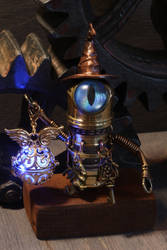 Robot wizard with blue eye by CatherinetteRings