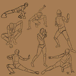 Action poses by TastyOranges