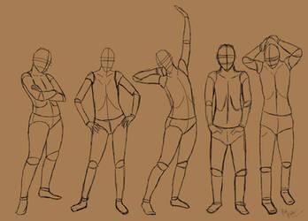 Standing poses by TastyOranges