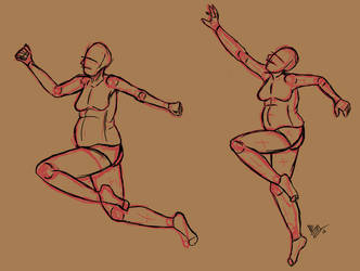 Jumping Poses by TastyOranges