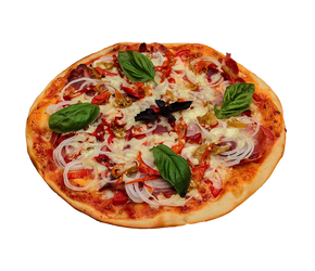 Italian pizza on a transparent background. by PRUSSIAART