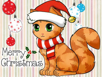 Christmas Kitty 1 by SoulKittyHi5s
