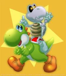 Yoshi and Bones by DewNoir