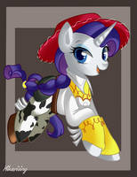 Rarity The Yodeling Cowgirl by hikariviny