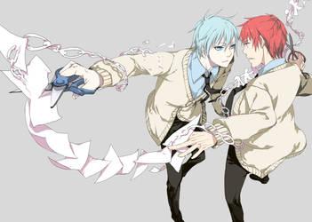 Kuroko and Akashi by nisotatsu