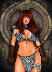 Red Sonja - Commission by leiaolliver