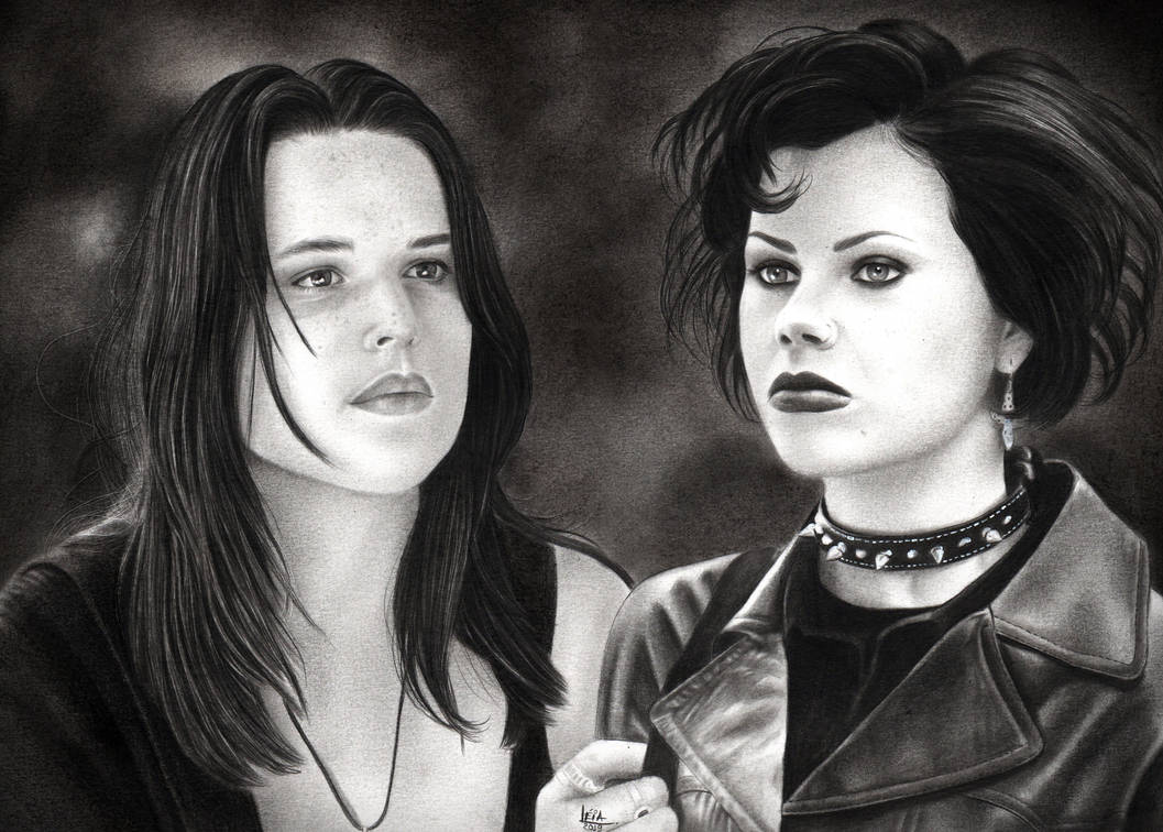Neve Campbell and Fairuza Balk by leiaolliver