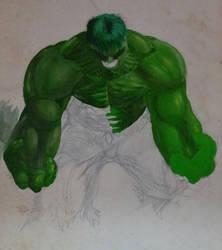 Unfinished acrylic Hulk 1997 by GaraKan