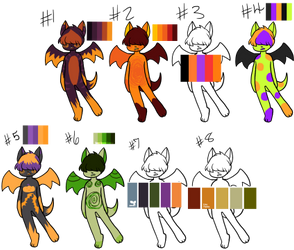 Pallett Bat Halloween / Autumn Adopts (4/8 open) by ParentOfTheDragons