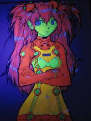 Asuka blacklight poster by fallout161