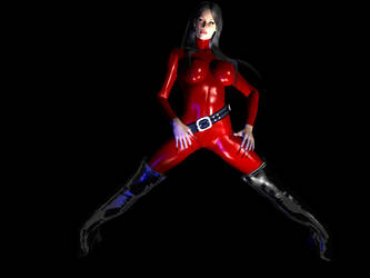 Red Rubber Suit by Tubeman