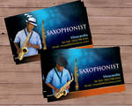 saxophonist bcard by owdesigns