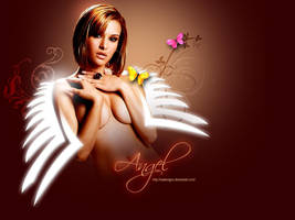 Angel wallpaper by owdesigns