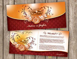 A and D wedding invitation by owdesigns