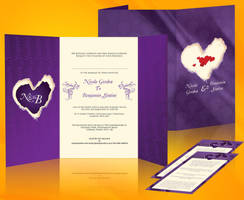 N and B wedding invite two by owdesigns