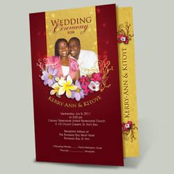 K and K wedding program by owdesigns