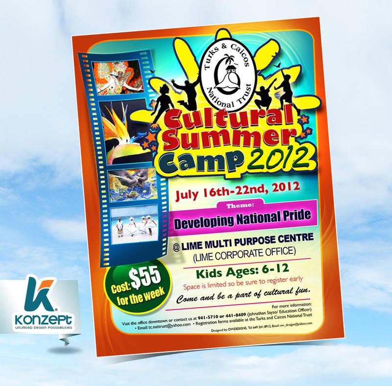 summer camp flyer by owdesigns