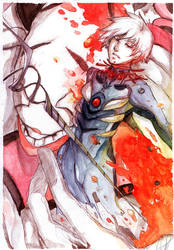 Kaworu for Shini by EphemeralComic