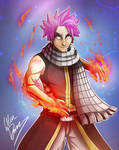Natsu Dragneel - Fairy Tail by Oskar-Draws