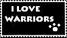 I Love Warriors Stamp by Beaver70