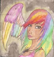 rainbow angel by BestImagineryFriend