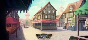 FateCraft - The Therian Saga - Market Illustration by NatMonney