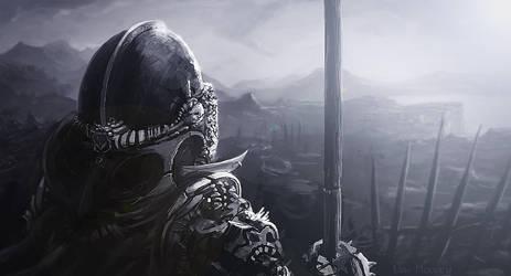 Knight on the Eve of Battle by NatMonney