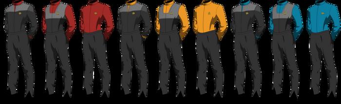 Star Trek Uniform 2373 Crewman by henryking