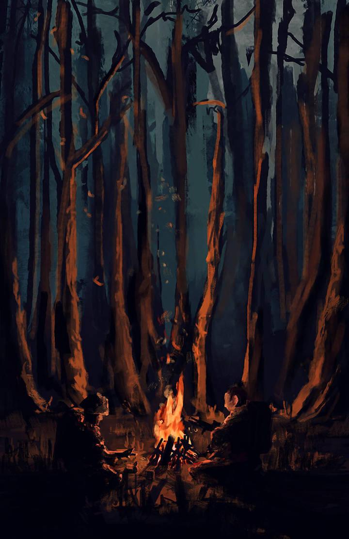 DAYZ Forest Campfire by Kaelakov