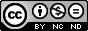 Creative Commons BY-NC-ND License Icon big by linux-rules