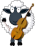 Cellist Sheep Icon mid by linux-rules
