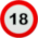 Traffic sign 18 age restriction (2) Icon mid by linux-rules