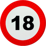 Traffic sign 18 age restriction (2) Icon ultrabig by linux-rules