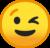 Winking Face (Google) Emote