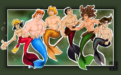 Buncha Mermaids...men COLOUR by viciousN