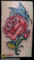 Tattoo 19: Rose and Butterfly by briescha
