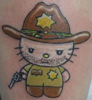 Tattoo: Walking Dead Rick Hello Kitty by briescha