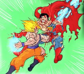 1000 HITS - SSJ and Superman by ssjgogeto